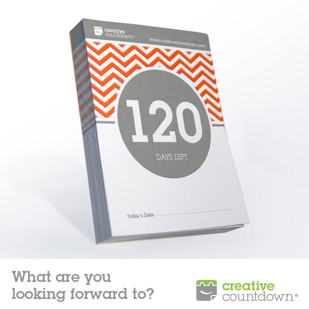 Creative Countdown Tear Off Countdown Calendar 120 Days